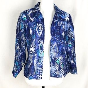 Ruby Rd Blue Blouse Size 8 NWOT